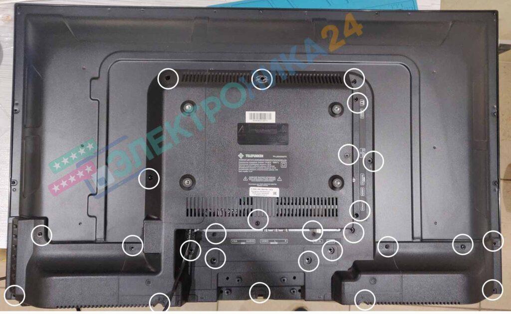 Разборка телевизора Telefunken LED32S32T2