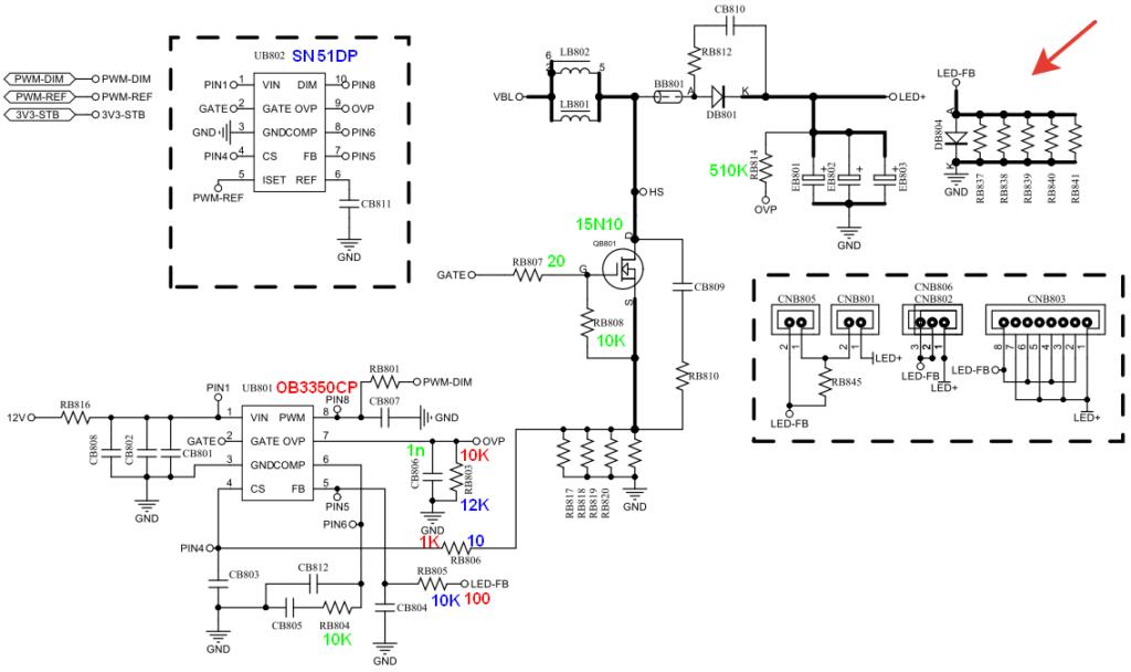 Схема SN510P (SN51DP)